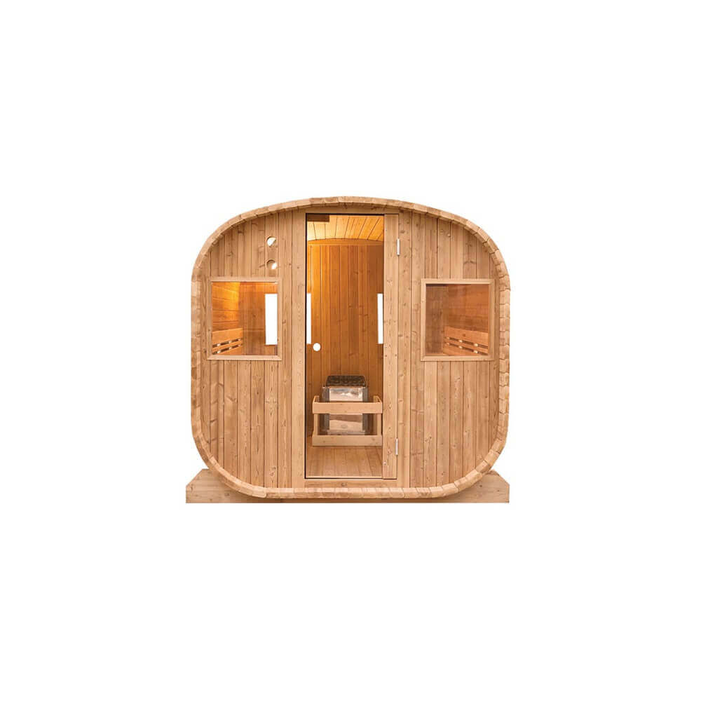 sauna ext rieur barrel vapeur mypiscine. Black Bedroom Furniture Sets. Home Design Ideas