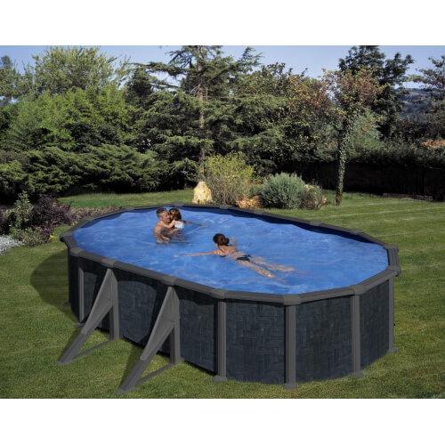 piscine hors sol acier rattan 500 x 300 mypiscine. Black Bedroom Furniture Sets. Home Design Ideas