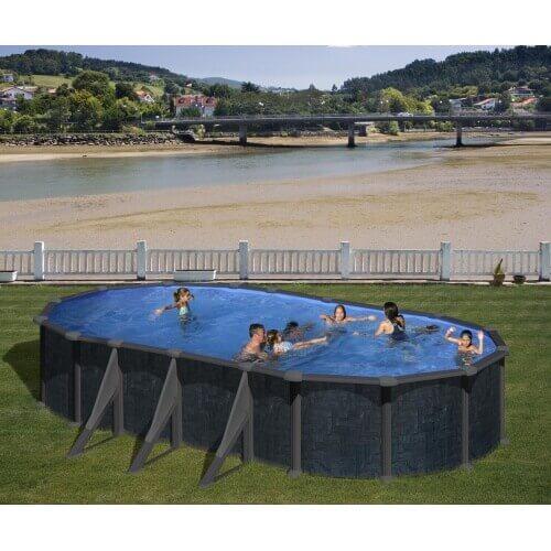 piscine hors sol ronde Villeneuve sur Lot