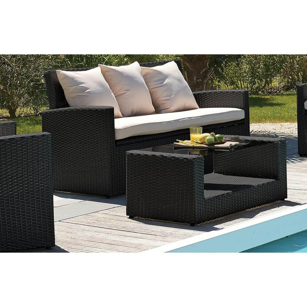 salon de jardin 5 places fidji mypiscine. Black Bedroom Furniture Sets. Home Design Ideas