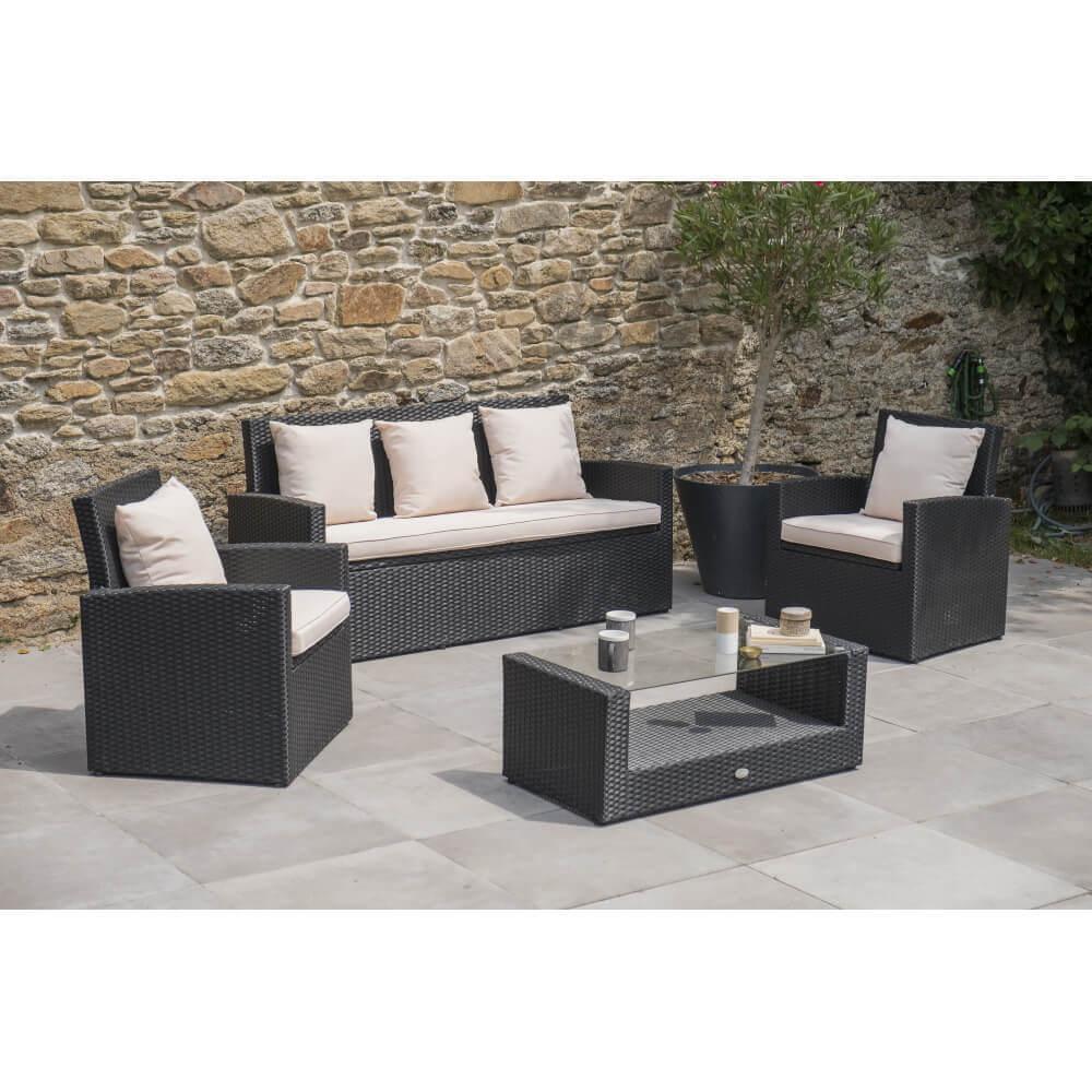 salon de jardin 5 places fidji mypiscine. Black Bedroom Furniture Sets. Home Design Ideas