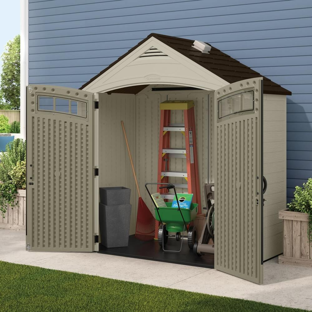 abri de jardin en r sine storeplus 2 78m mypiscine. Black Bedroom Furniture Sets. Home Design Ideas