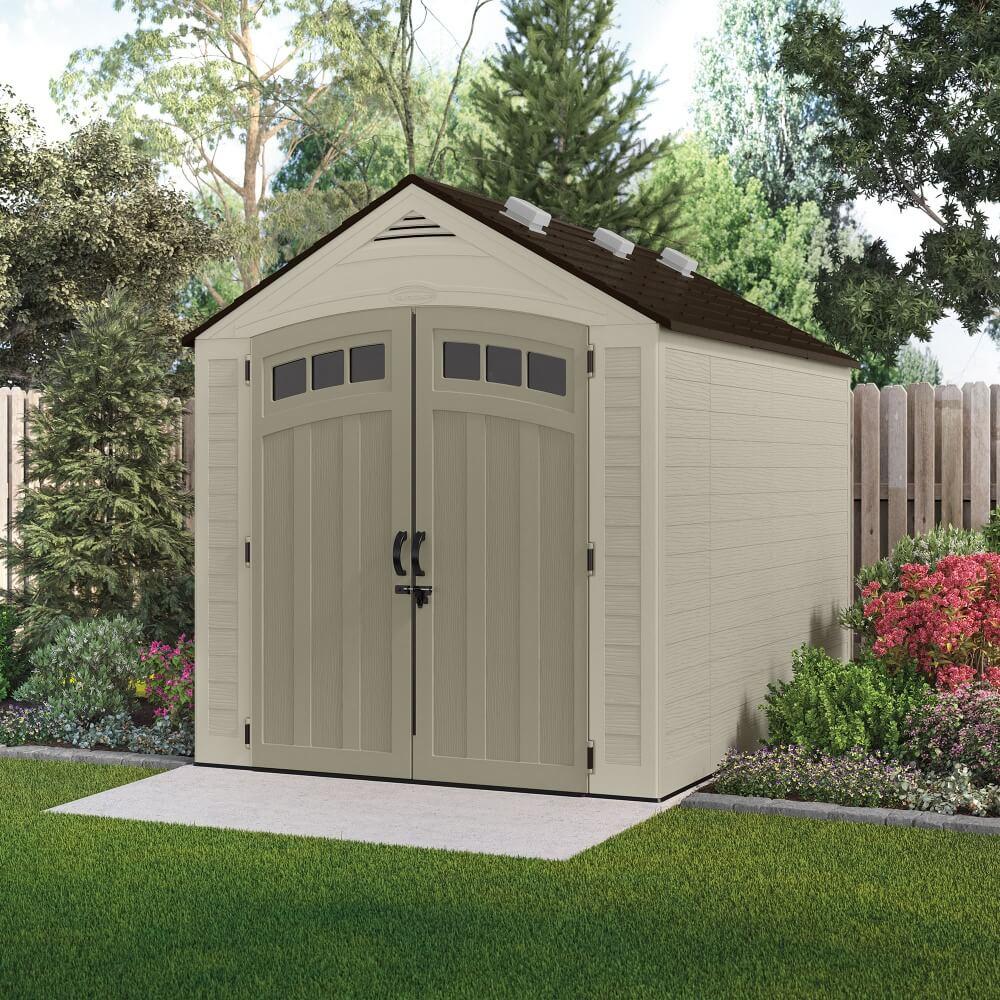 abri de jardin en r sine storeplus 6 90 m mypiscine. Black Bedroom Furniture Sets. Home Design Ideas