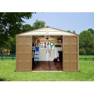 Abri de jardin PVC Duramax Woodstyle - 10,56 m²