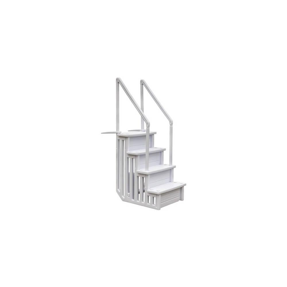 escalier synth tique pour piscine mypiscine. Black Bedroom Furniture Sets. Home Design Ideas