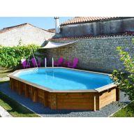 Piscine hors sol bois et acier livr e gratuitement chez for Prix piscine 5x3
