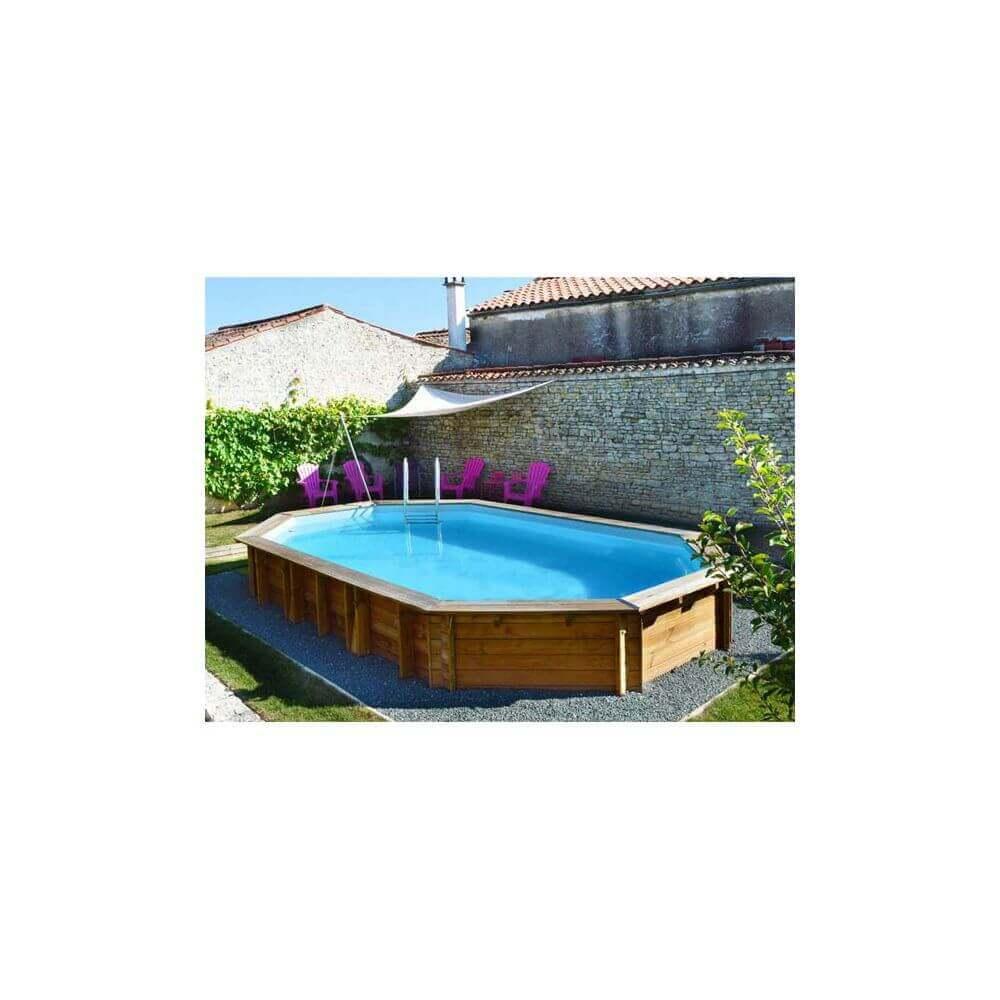 Piscine hors sol sunbay en bois 5 85x4 10m mypiscine for Piscine hors sol sunbay
