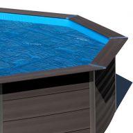 Bâche à bulles piscine Gré composite 664 x 386 cm