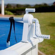 Enrouleur pour bâche à bulles pour piscine hors-sol acier, tubulaire ou bois