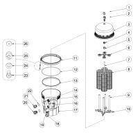 Cartouche filtre PENTAIR DE Quad Exel - 52,58 x 15,88 cm
