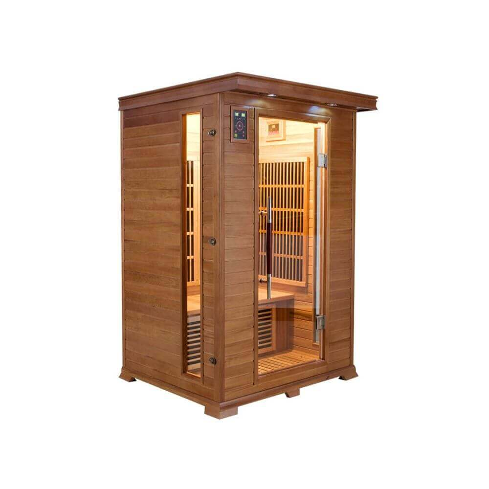 sauna infrarouge luxe 2 places france sauna mypiscine. Black Bedroom Furniture Sets. Home Design Ideas