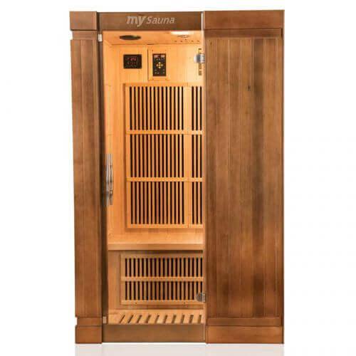 sauna infrarouge france sauna sol a 2 places mypiscine. Black Bedroom Furniture Sets. Home Design Ideas