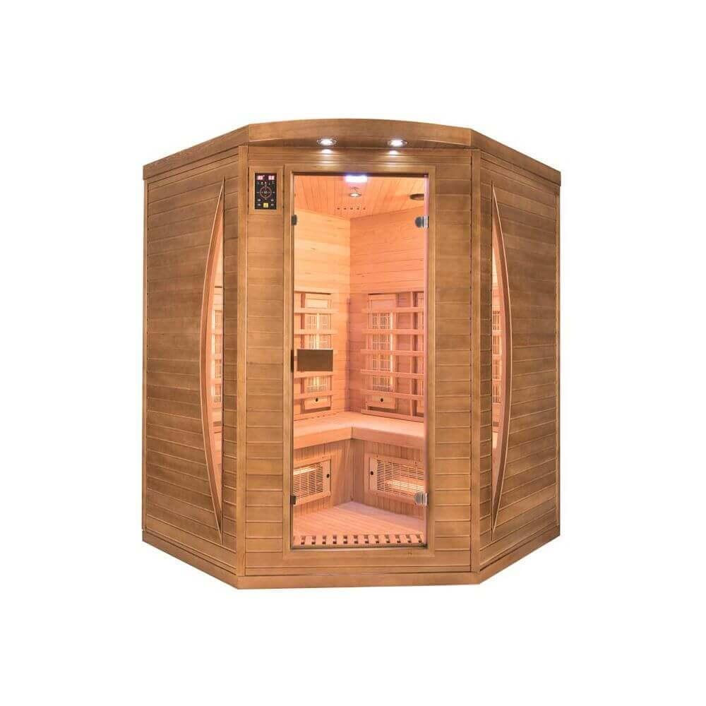 sauna infrarouge spectra 3 places mypiscine. Black Bedroom Furniture Sets. Home Design Ideas