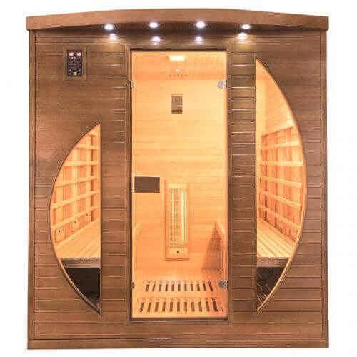 sauna infrarouge spectra 4 places mypiscine. Black Bedroom Furniture Sets. Home Design Ideas