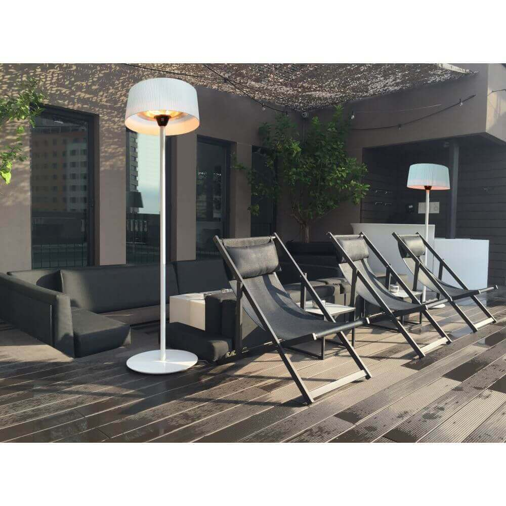 chauffage ext rieur lectrique sirmione blanc sur pied. Black Bedroom Furniture Sets. Home Design Ideas