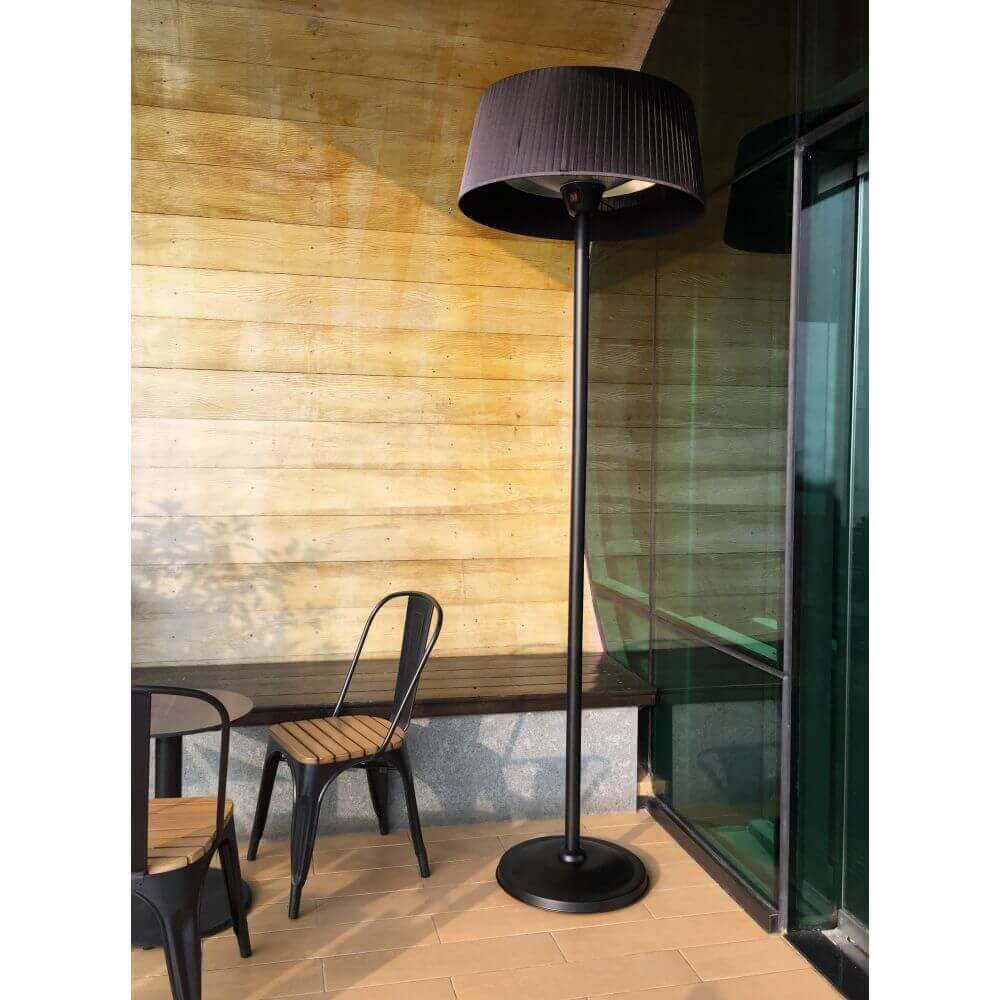 chauffage ext rieur lectrique sirmione noir sur pied. Black Bedroom Furniture Sets. Home Design Ideas