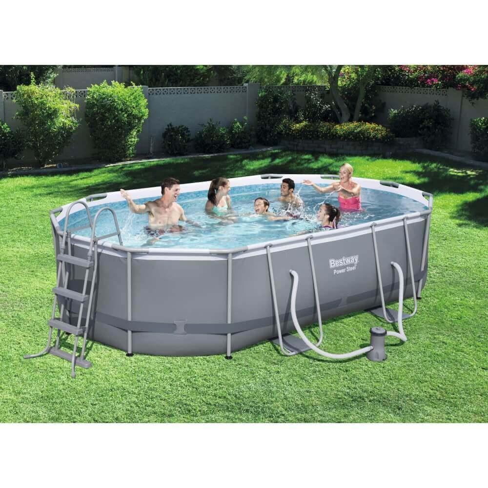 piscine tubulaire bestway 549 x 274 x h 122 cm 56710. Black Bedroom Furniture Sets. Home Design Ideas