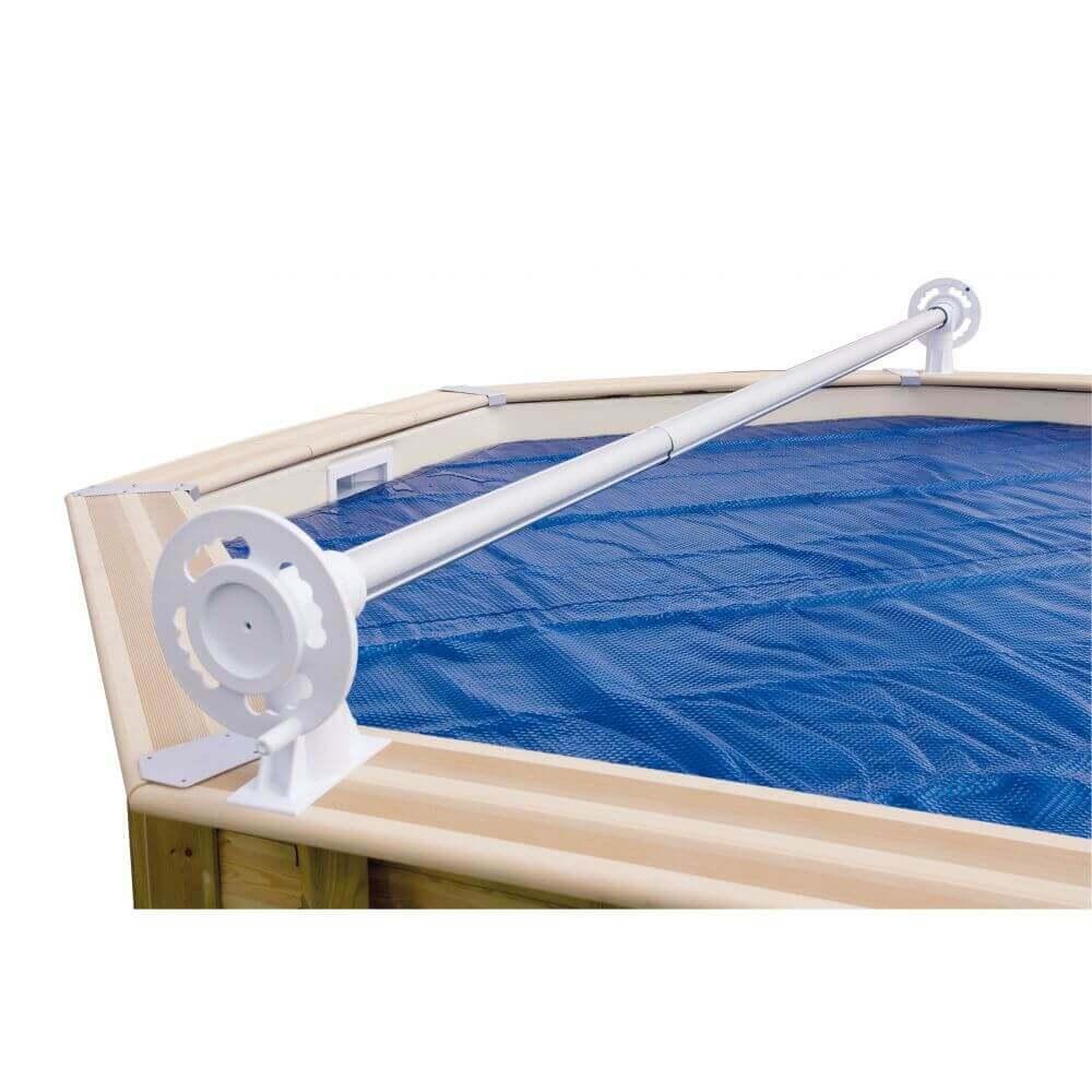 enrouleur luxe pour b che bulles piscine hors sol largeur max 6 50m. Black Bedroom Furniture Sets. Home Design Ideas