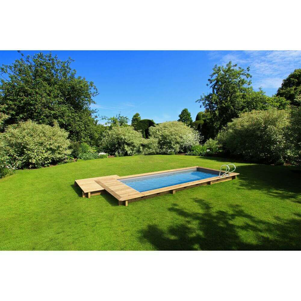 Kit piscine bois urbaine 600 x 250 mypiscine - Couverture piscine automatique prix ...