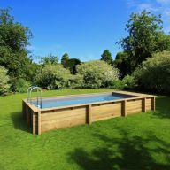 Piscine bois Pool'n'Box 500 x 200 x H 133 cm - Avec coffre de filtration