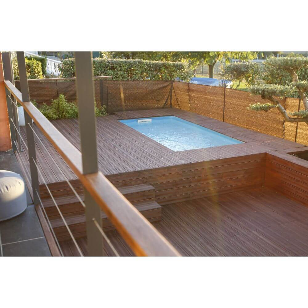 Piscine En Palette De Bois piscine bois azura 200 x 350 x h 71 cm