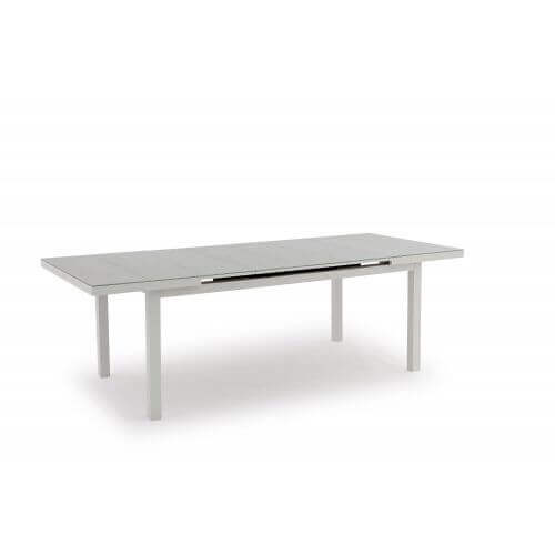 Table de jardin extensible en aluminium Nice