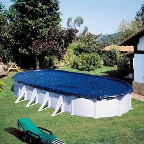 Bâche d'hivernage piscine Gré 527 x 327 cm ovale