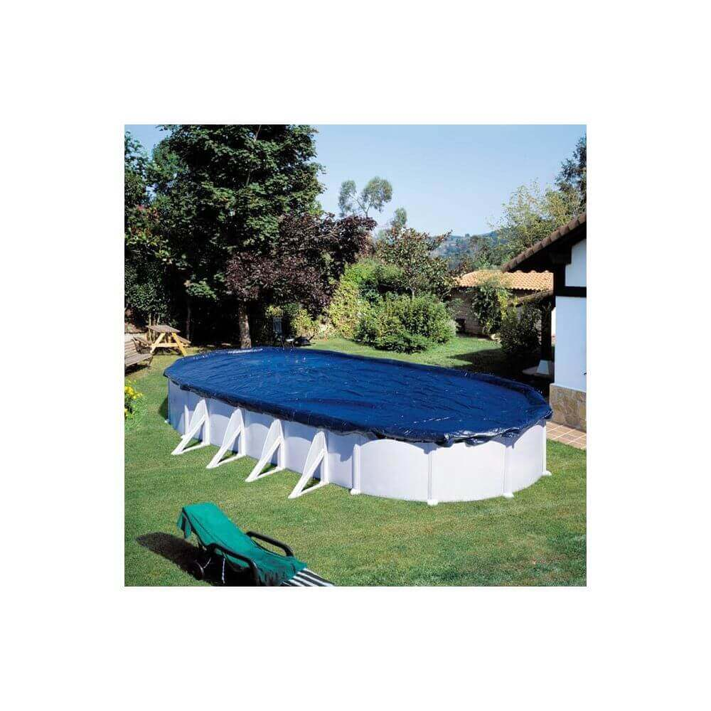 B che d 39 hivernage piscine gr 500 x 300 cm ovale mypiscine - Bache hivernage piscine hors sol ...