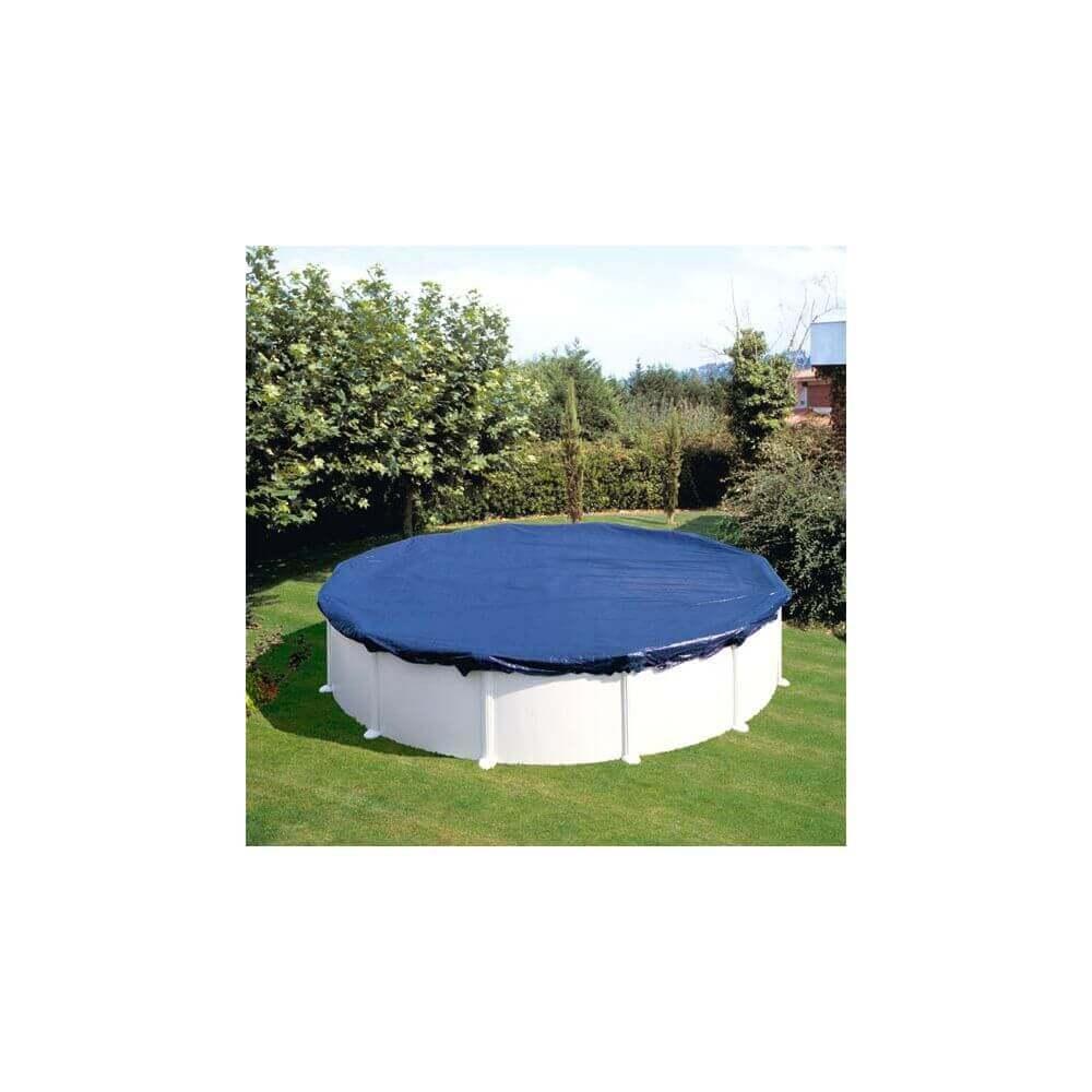 B che d 39 hivernage piscine gr 640 cm ronde mypiscine - Bache hivernage piscine hors sol ...