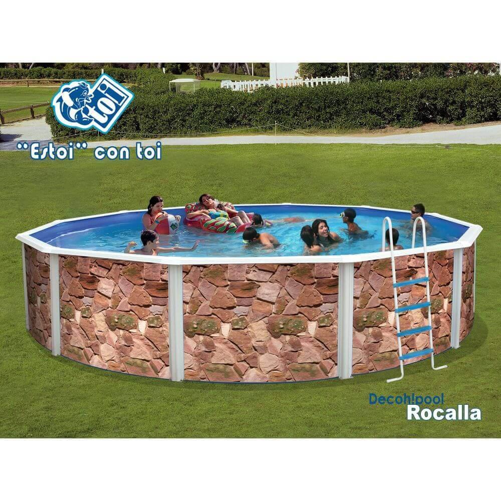 Piscine En Pierre Hors Sol piscine hors-sol rocalla Ø640 x h120 cm - filtre à sable