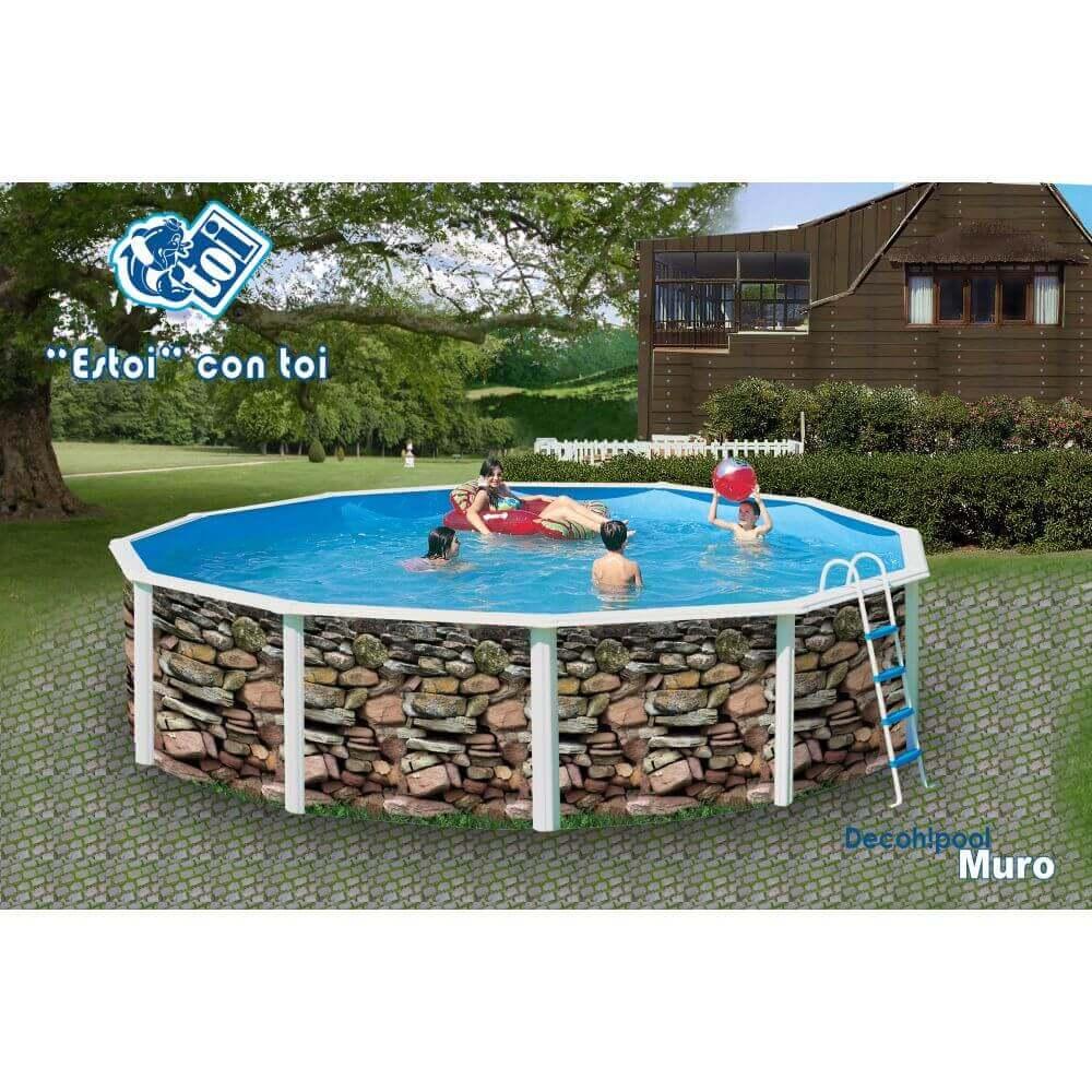 Piscine En Pierre Hors Sol piscine hors-sol muro Ø550 x h120 cm - filtre à sable