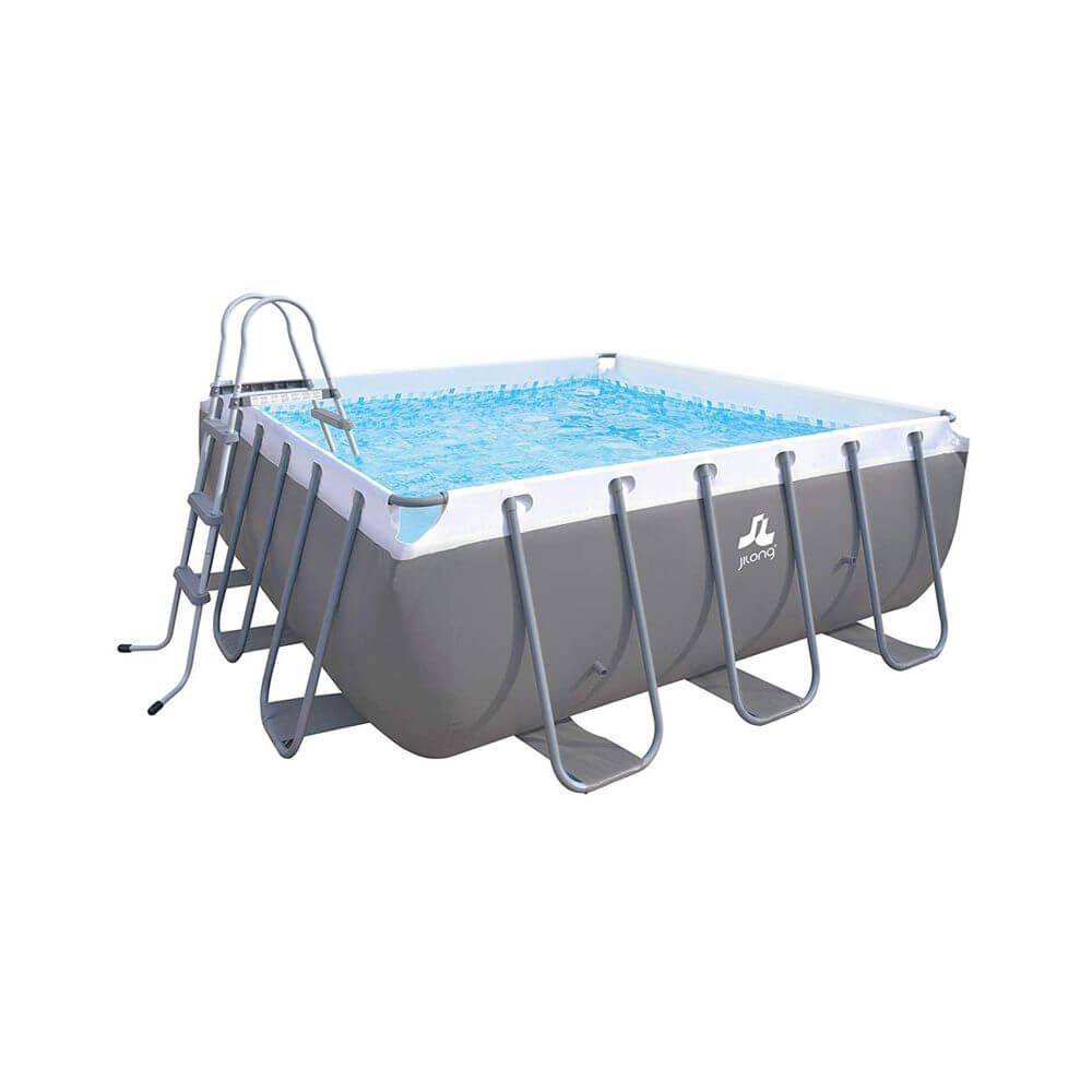 Piscine Tubulaire Jilong Passaat Grey 300 X 300 Cm Filtre A Sable