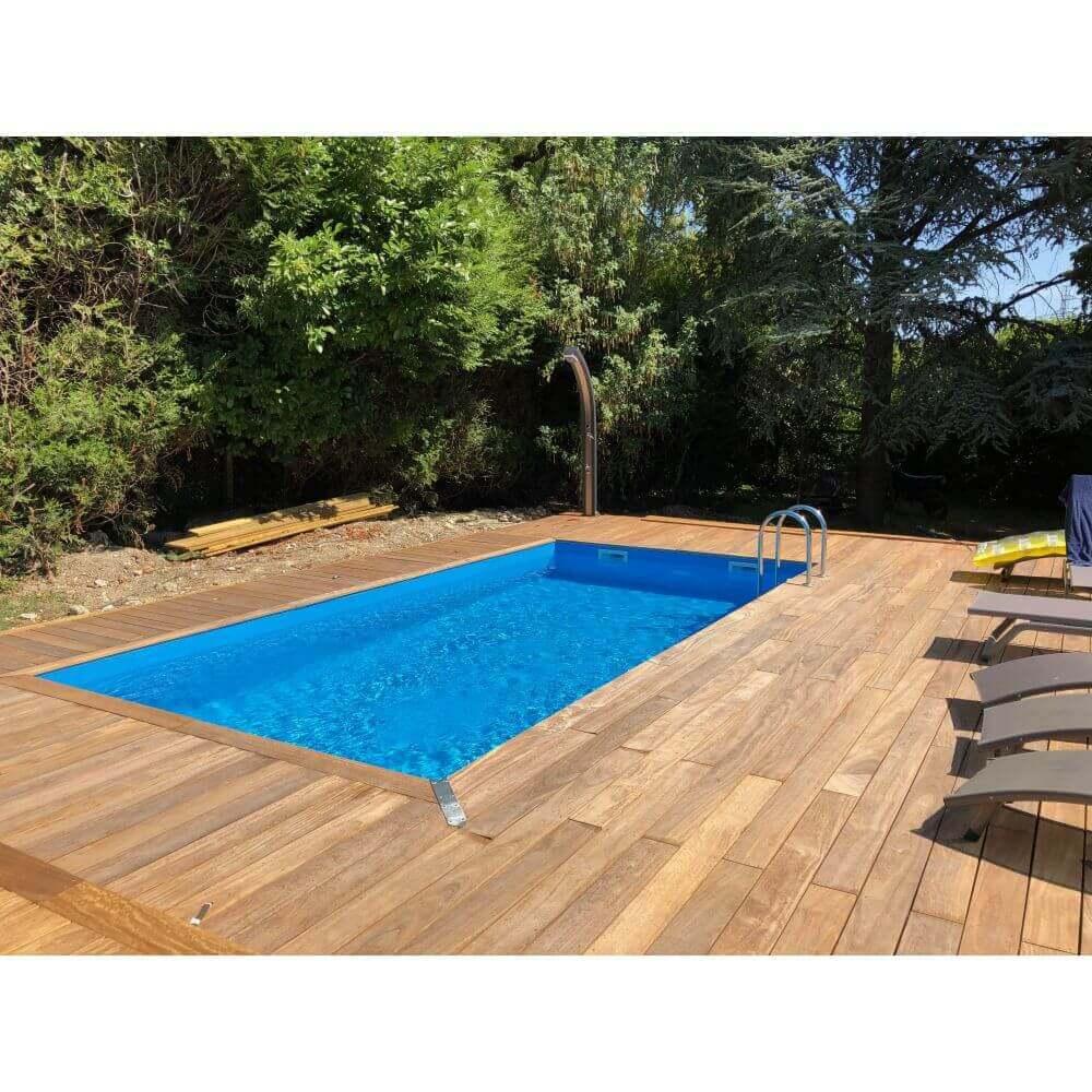 Piscine En Palette De Bois piscine bois linéa 650 x 350 x h 140 cm