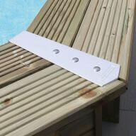Kit de finition aluminium pour margelles Ubbink - 8 pièces