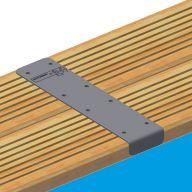 Kit de finition aluminium pour margelle Ubbink - 4 pièces droites