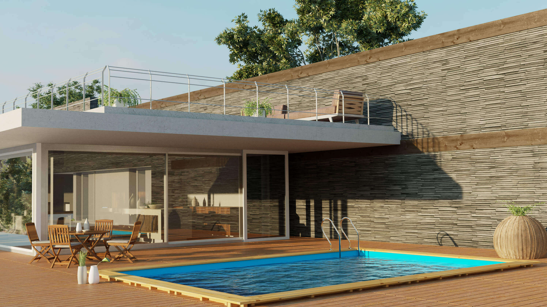 Piscine Tubulaire Terrasse Bois piscine bois evora 620 x 420 x h 133 cm - version 2020