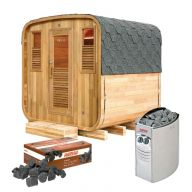 Pack sauna Gaïa Nova + poêle Harvia Vega 8 kW + pierres de lave
