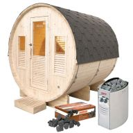 Pack sauna Gaïa Omega + poêle Harvia Vega 8 kW + pierres de lave