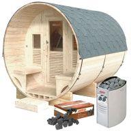 Pack sauna Gaïa Luna + poêle Harvia Vega 8 kW + pierres de lave