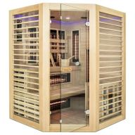 Sauna  Hybride Vénus 3/4 places - Full Spectrum + Vapeur