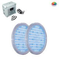 Pack complet 2 ampoules Led RVB 315 avec télécommande