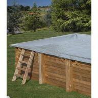 Bâche hiver piscine Sunbay Carra 300 x 300 cm