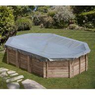 Bâche hiver piscine Sunbay Cannelle 551 x 351 cm