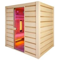 Sauna Hybride Combi 4 places (Infrarouge + vapeur)