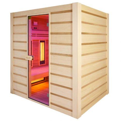 Sauna Hybride Combi 4 places (Infrarouge + vapeur)