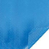 Bâche à bulles piscine sur-mesure 400 microns Bleu - Bordée 2 côtés