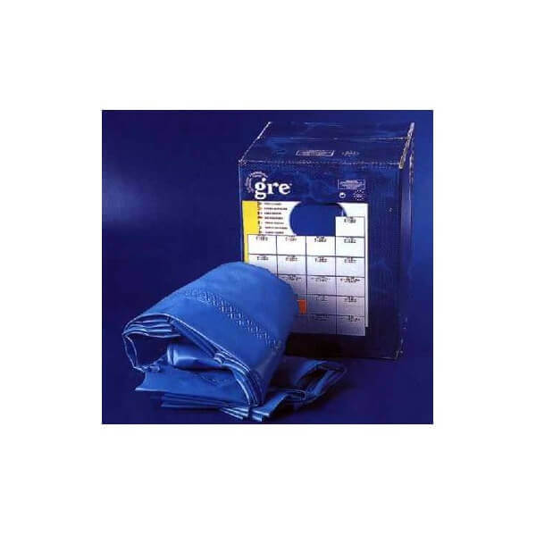 Liner 1000x550x132 couleur bleu 40 100 rail d 39 accroche gre for Accrochage liner piscine