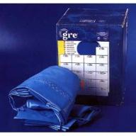 Liner piscine Gré ovale 640 x 390 x H.120 - Rail d'accroche - Bleu