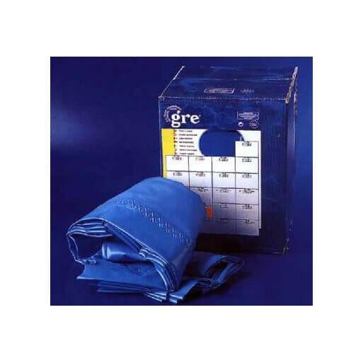 Liner 550x120 couleur bleu 40 100 rail d 39 accroche gre for Liner pour piscine en huit