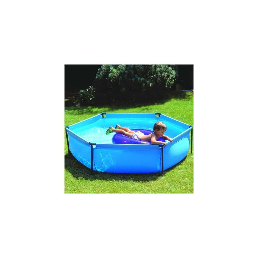 Piscine hors sol gre pool junior hexagonale 215 h0 45 for Piscine hexagonale hors sol